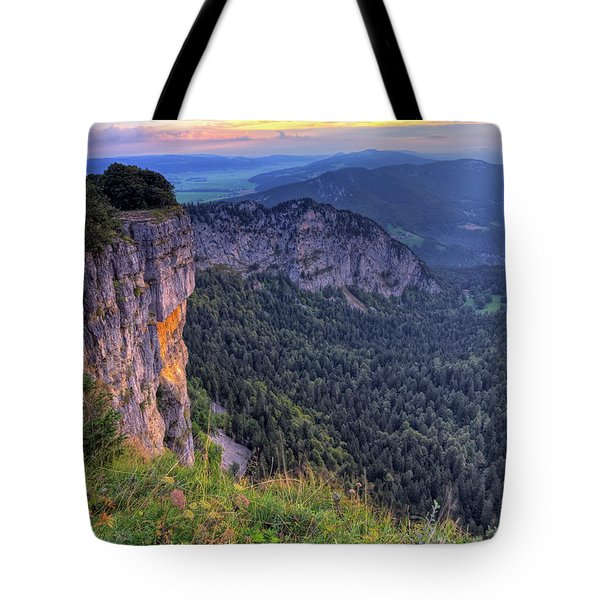 Creux-du-van Or Creux Du Van Rocky Cirque, Neuchatel Canton, Switzerland Tote Bag by Elenarts - Elena Duvernay photo