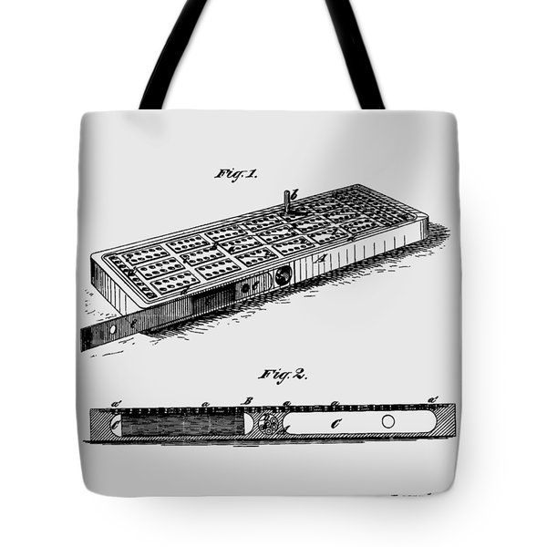 Cribbage Board 1879 Patent Art Transparent Tote Bag