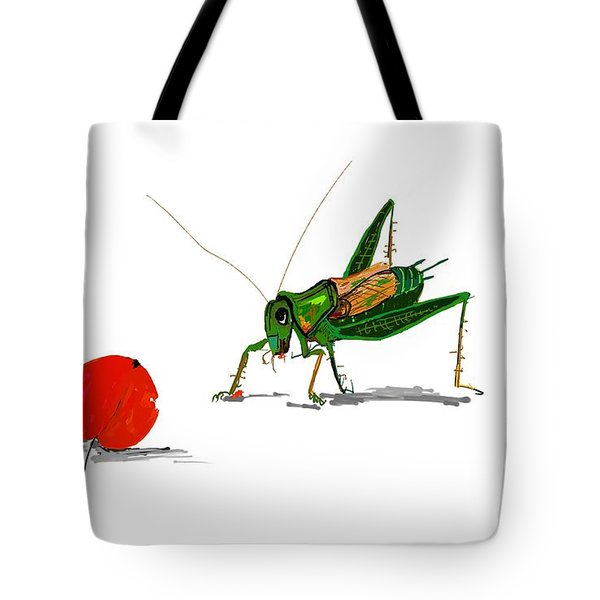 Cricket  Joy With Cherry Tote Bag