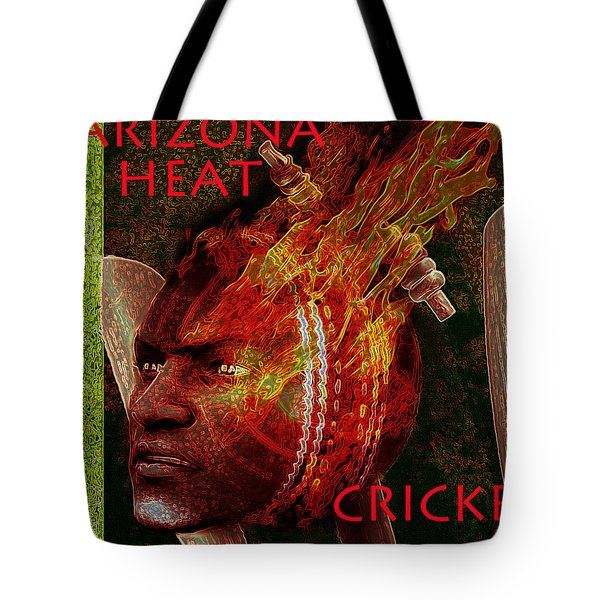 Tote Bag featuring the painting Cricket Poster by Suzanne Silvir