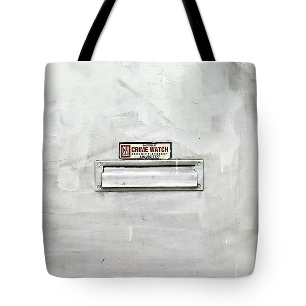 Crime Watch Mailslot Tote Bag
