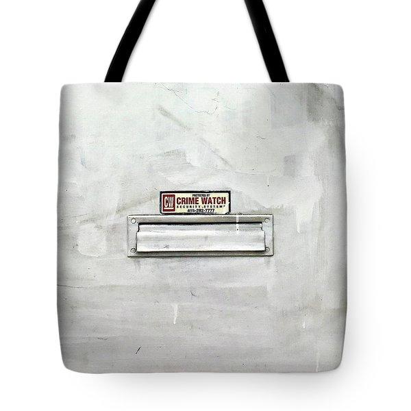 Crime Watch Mailslot Tote Bag