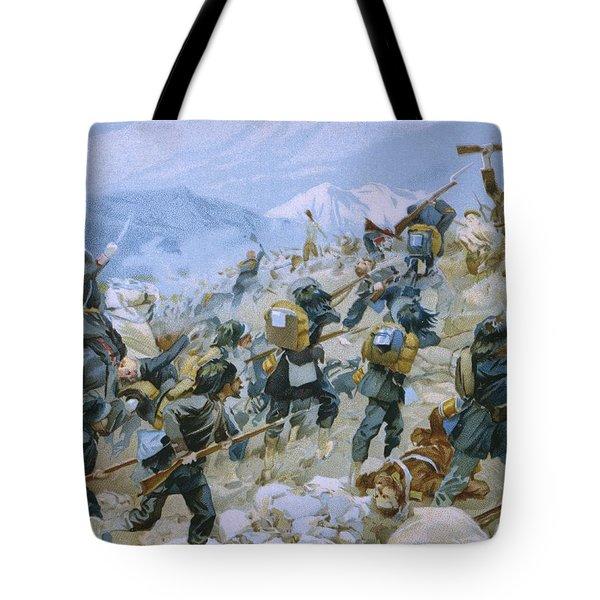 Crimean War And The Battle Of Chernaya Tote Bag by Italian School