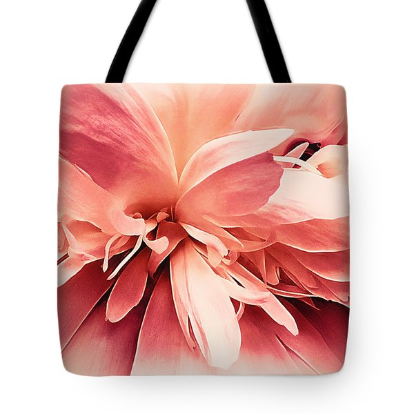 Tote Bag featuring the photograph Crimson Ballet Powder Puff by Darlene Kwiatkowski