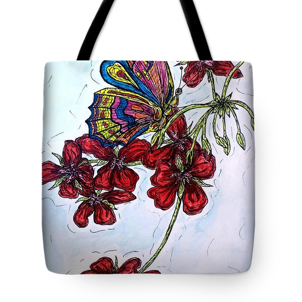 Crimson Fancy Tote Bag