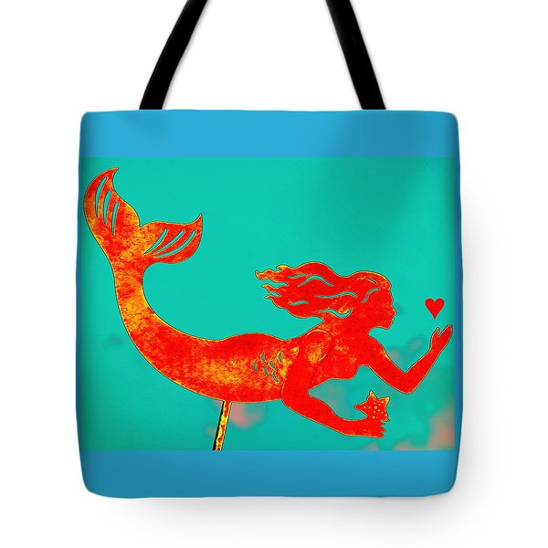 Crimson Mermaid Tote Bag