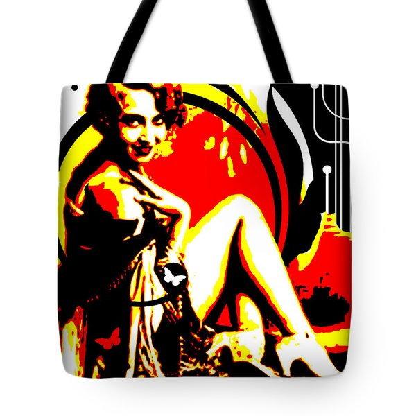 Crimson Moon Tote Bag by Chris Andruskiewicz