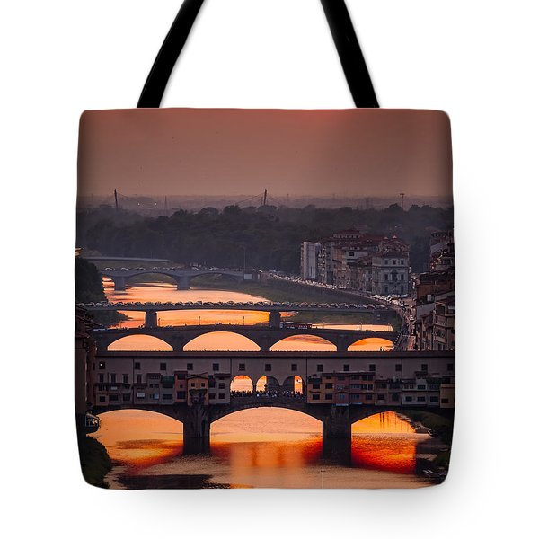 Crimson River Tote Bag