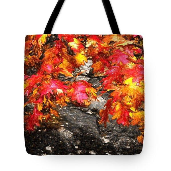 Crimson Splendor II Tote Bag