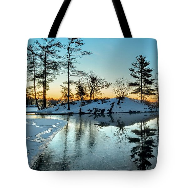 Crisp And Cold Start To The Day Tote Bag