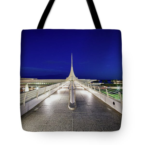Crisp Blue Tote Bag