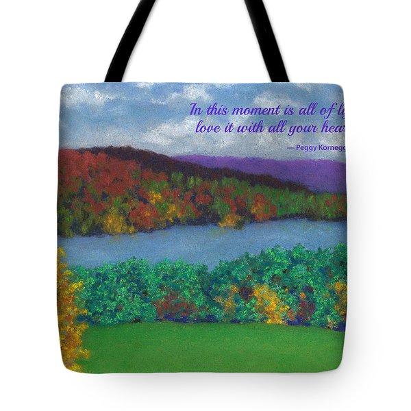 Crisp Kripalu Morning - With Quote Tote Bag