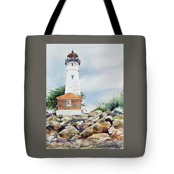 Crisp Lighthouse Tote Bag