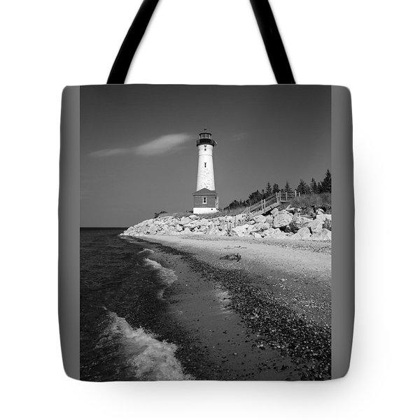 Crisp Point Lighthouse Tote Bag