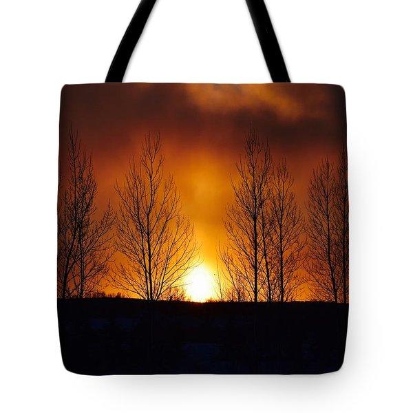 Crisp Sunset Tote Bag