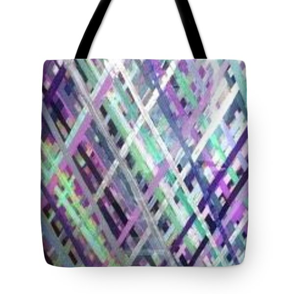 Criss Cross Tote Bag by Margalit Romano