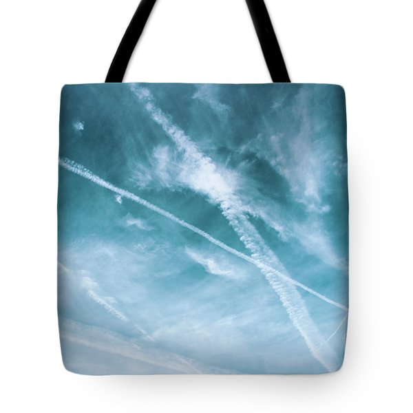 Tote Bag featuring the photograph Criss-cross Sky by Colleen Kammerer