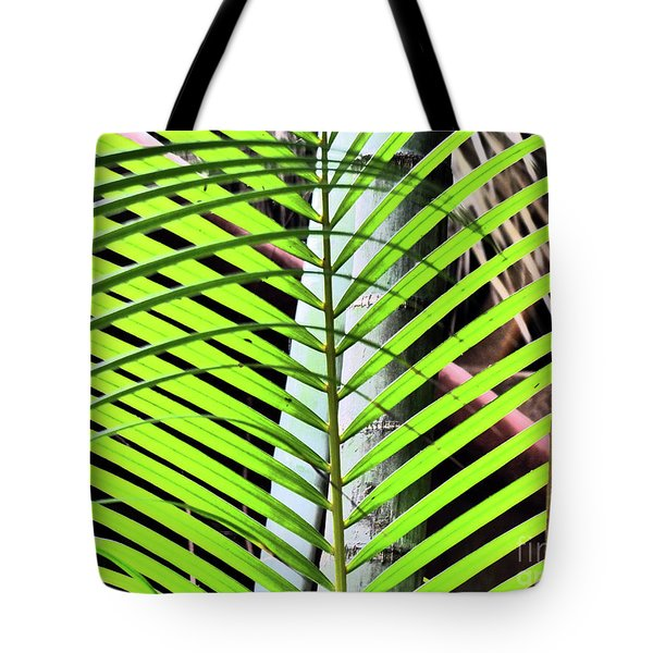 Crisscrossing Palms Tote Bag