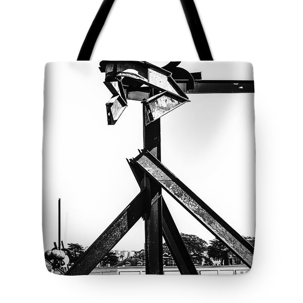 Tote Bag featuring the photograph Crissy Field Iron Scuplure by Michael Hope