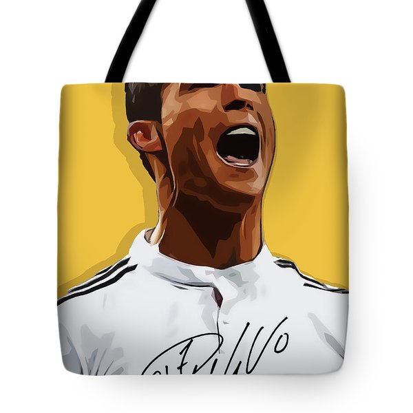 Cristiano Ronaldo Cr7 Tote Bag by Semih Yurdabak