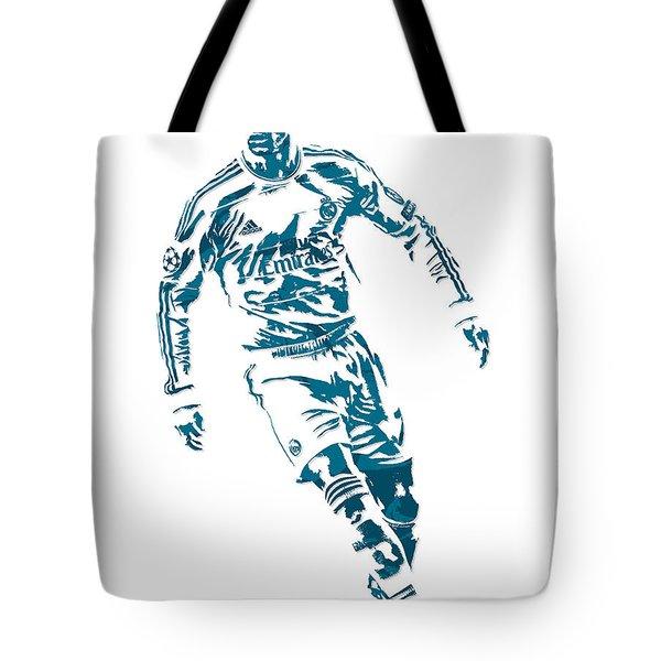 Cristiano Ronaldo Real Madrid Pixel Art 1 Tote Bag