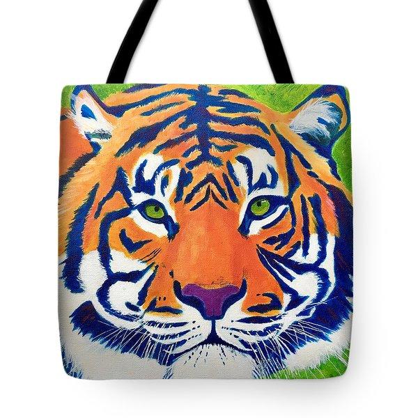 Critically Endangered Sumatran Tiger Tote Bag