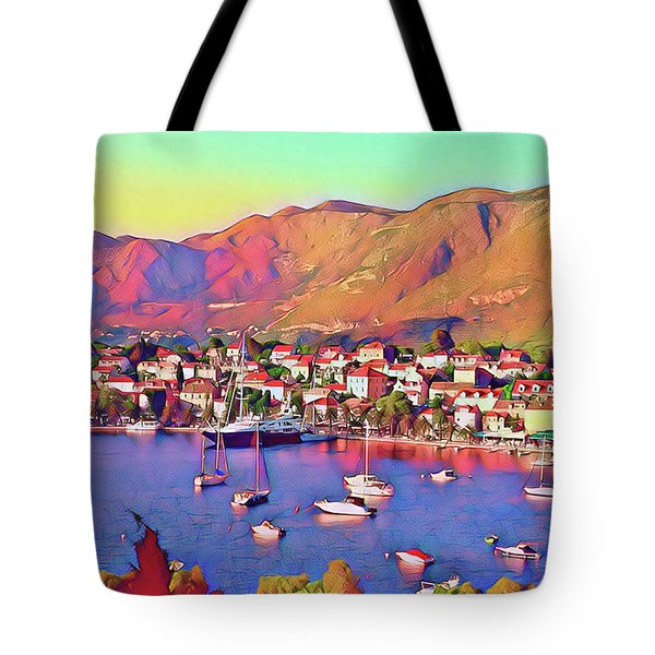 Croatia Coastal Living Tote Bag