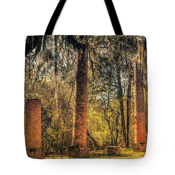 Crocheron Columns Old Cahawba Tote Bag by Phillip Burrow
