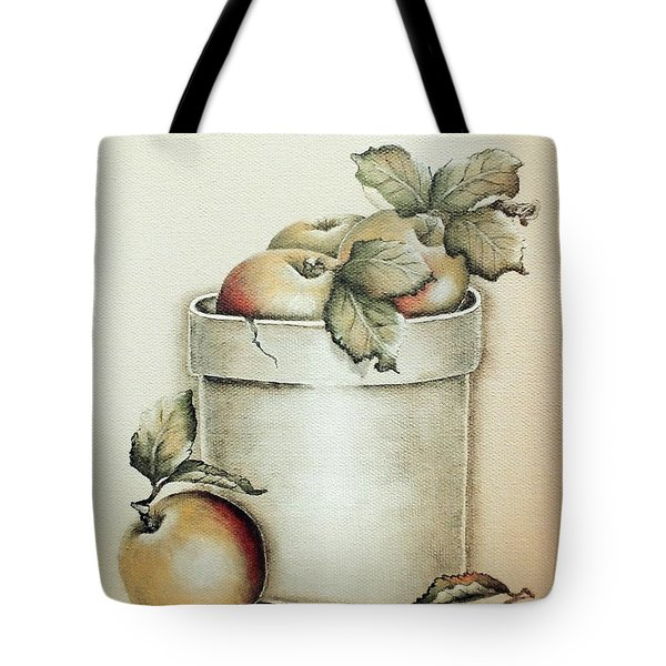 Crock Of Apples - Vintage Tote Bag