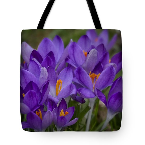 Crocus Cluster Tote Bag by Shirley Mitchell