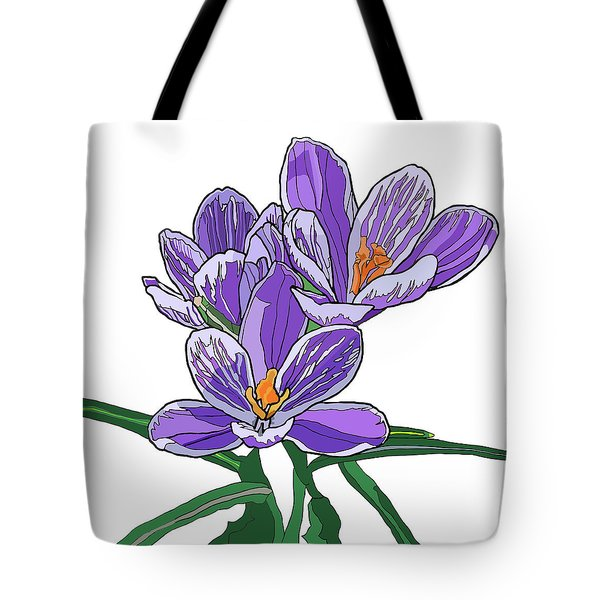 Crocus Tote Bag by Jamie Downs