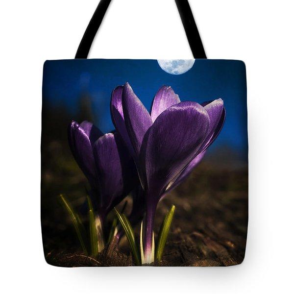 Crocus Moon Tote Bag