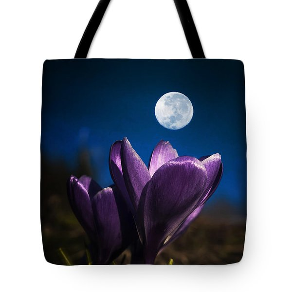 Crocus Moon Tote Bag