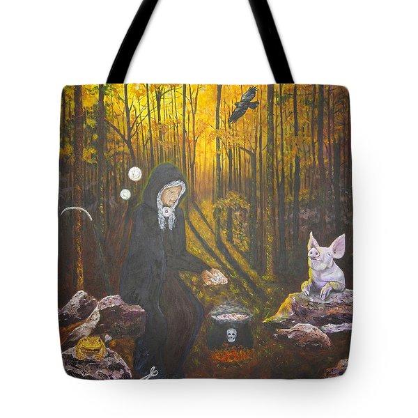 Crone Goddess Keridwen - Samhain Tote Bag