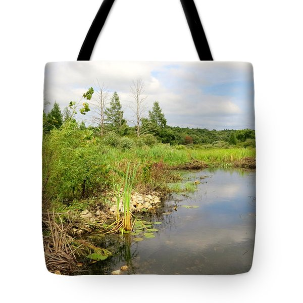 Tote Bag featuring the photograph Crooked Creek Preserve by Kimberly Mackowski