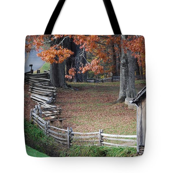 Tote Bag featuring the photograph Crooked Fence by Eric Liller