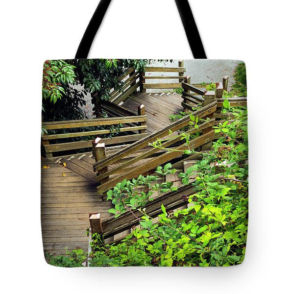 Crooked Stairs Tote Bag