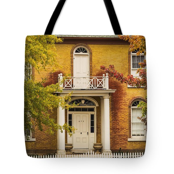 Crooked White Fence Tote Bag
