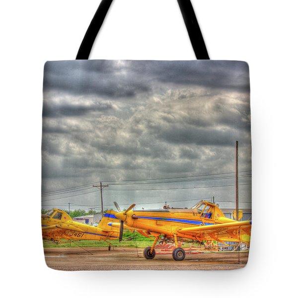 Crop Duster 003 Tote Bag by Barry Jones