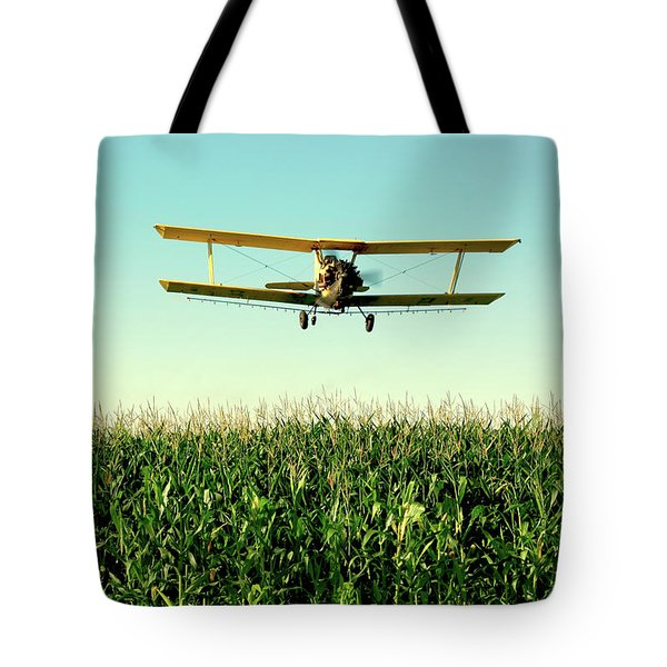 Crops Dusted Tote Bag by Todd Klassy