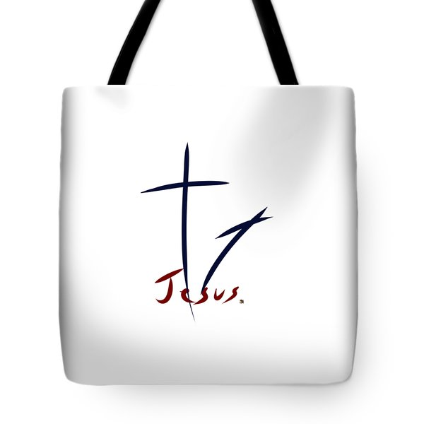 Cross And Shadow Tote Bag