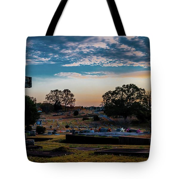 Cross At Sunset Tote Bag