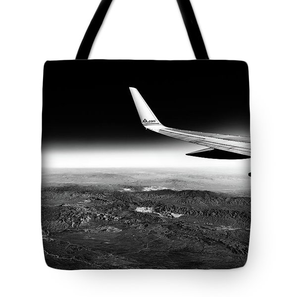 Cross Country Via Outer Space Tote Bag