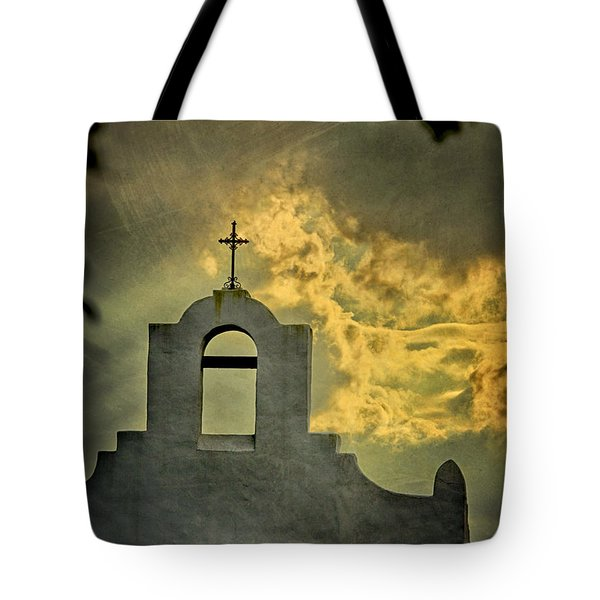 Cross In The Clouds Tote Bag