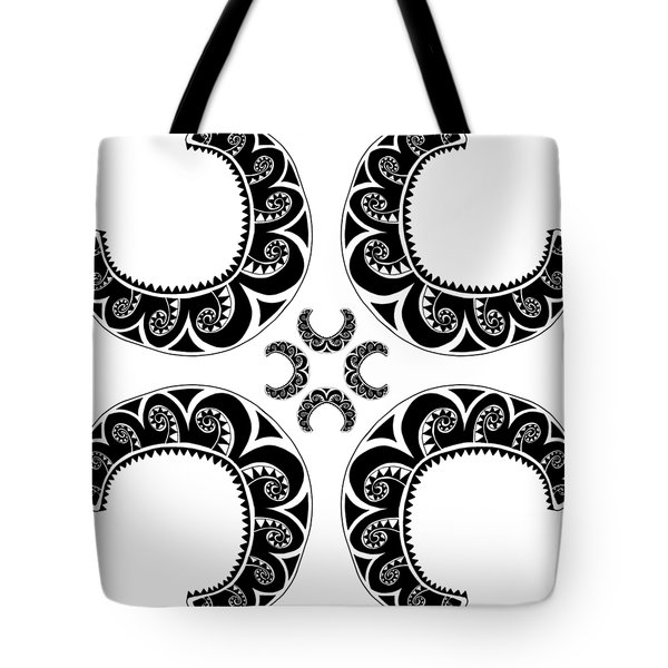 Cross Maori Style Tote Bag