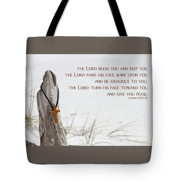 Tote Bag featuring the photograph Cross Necklace by Steven Frame