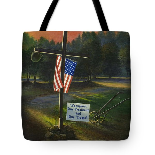 Cross Of Remembrance Tote Bag
