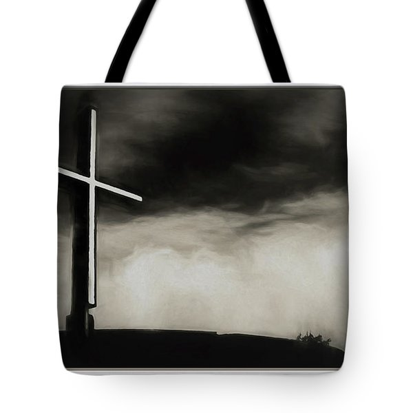 Cross On A Hill Tote Bag