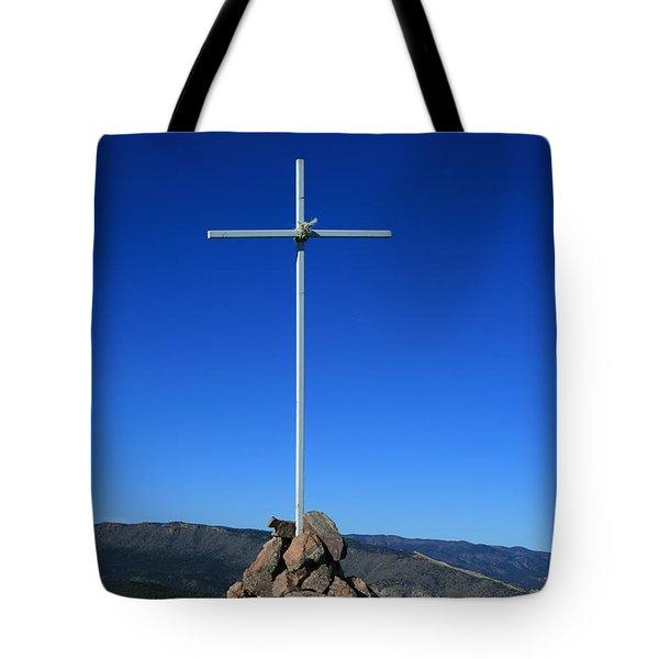 Cross On Fremont Peak Tote Bag