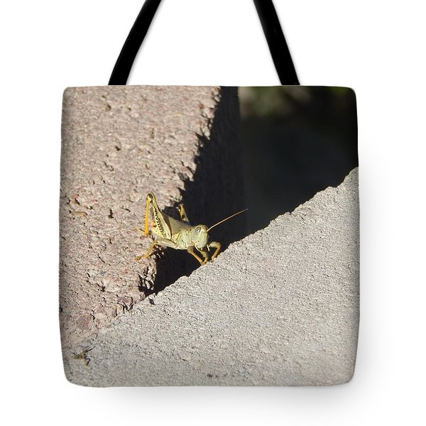Cross Over Grasshopper Tote Bag